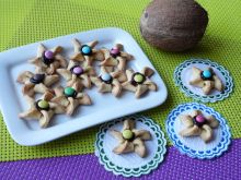 Wiatraczki z wiórkami kokosowymi