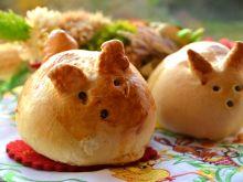 Wielkanocne bułeczki zajączki z niespodzianką