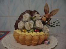 wielkanocny tort koszyk
