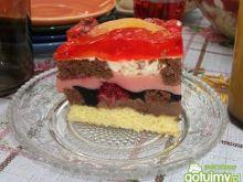 Wielobarwne ciasto owocowe