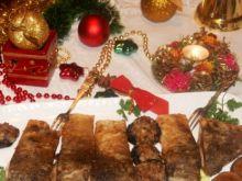 Wigilijny karp z faszerowanymi pieczarkami