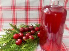 Wino wiśniowe na skórce z pomarańczy