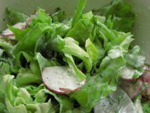 Wiosenna sałata z rzodkiewką w sosie koperkowym