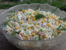 Wiosenna sałatka ryżowa
