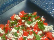 Wiosenna sałatka z arbuzem i fetą