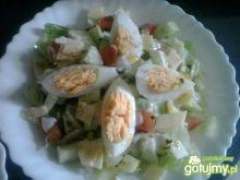 Wiosenna sałatka z jajkiem 2