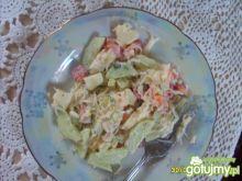 Wiosenna sałatka z makaronem ryżowym