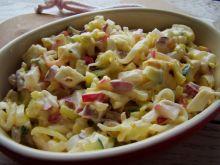 Wiosenna sałatka z pora , jajka i rzodkiewki