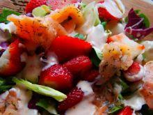 Wiosenna sałatka z truskawką