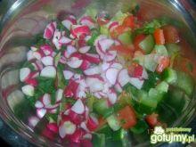 Wiosenna surówka w czosnkowym sosie