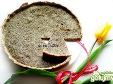 Wiosenna tarta jajeczna z pesto bazyliow