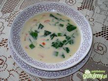 Wiosenna zupa ze szpinakiem