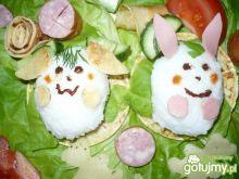 Wiosenne króliczki na waflu