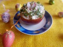 Wiosenne śledzie podawane w jabłkach