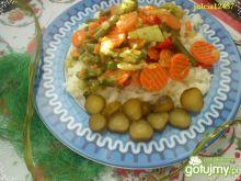 Wiosenny mix warzyw z ryżem