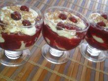 Wiśniowo - serowy deserek
