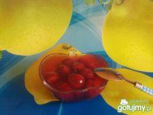 Wiśniowy raj ze skórką cytrynową  .