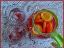 Woda malinowo-pomarańczowa