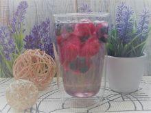 Woda z owocowymi kostkami lodu