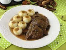 Wołowina w sosie grzybowym
