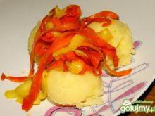 Wstążki marchewkowo - cukiniowe