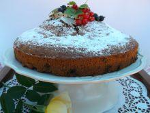 ,,Wulkan'' ciasto czekoladowo-owocowe