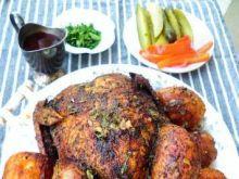 Wy- pieczony faszerowany kurczak
