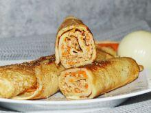 Wytrawne naleśniki z mielonym mięsem i marchewką