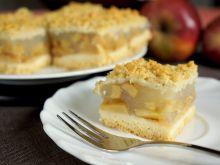Ciasto z jabłkami i budyniem na wodzie
