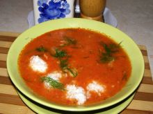 Zupa z pomidorów na maśle i śmietanie