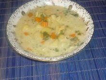 Zabielana zupa z fasolką szparagową