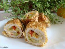 Zakręcone roladki w warzywach i sezamie
