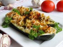 Zapiekana cukinia z kurczakiem i warzywami