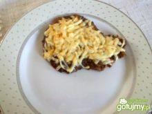 Zapiekana szynka wieprzowa z serem
