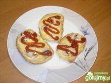 Zapiekane kanapki z pieczarkami