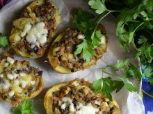 Zapiekane młode ziemniaki z pieczarkami