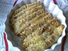 Zapiekane naleśniki z serem i pieczarkami