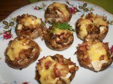 Zapiekane pieczarki z szynką i fetą