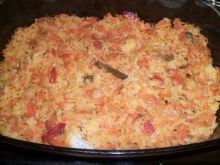 Zapiekane risotto meksykańskie