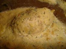 Zapiekane roladki z piersi kurczaka.