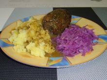 Zapiekane rolady wołowe w sosie pieczarkowym