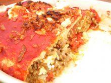 Zapiekane tortille z mięsem, warzywami i fetą
