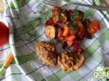 Zapiekane warzywa w glazurze z szynką