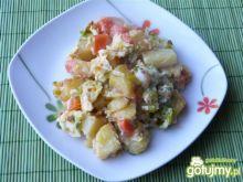 Zapiekane ziemniaki z porą i jajkami