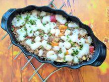 Zapiekanka kasza gryczana z warzywami i mozzarellą