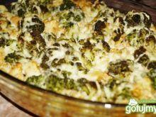 Zapiekanka makaronowa z brokułem,kurczak