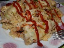 Zapiekanka makaronowa z brukselką i kurczakiem