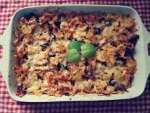 Zapiekanka makaronowa z gulaszem wołowym