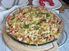 Zapiekanka makaronowa z kurczakiem i serami