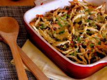 Zapiekanka makaronowa z kurczakiem i szparagami